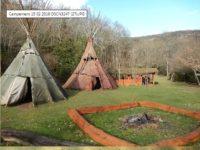 Association Terre-Mère, campement préhistorique de Bruniquel France